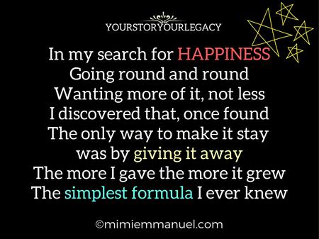 I found Happiness!