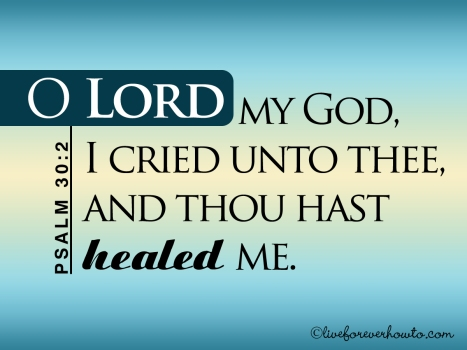 THOU hast healed me