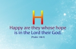 Happy are those who rely on the Lord