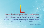 Love the LORD Deuteronomy 11