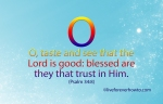 O taste and see that the LORD is good