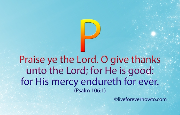 Psalm 106:11 Free Scripture Card - P -