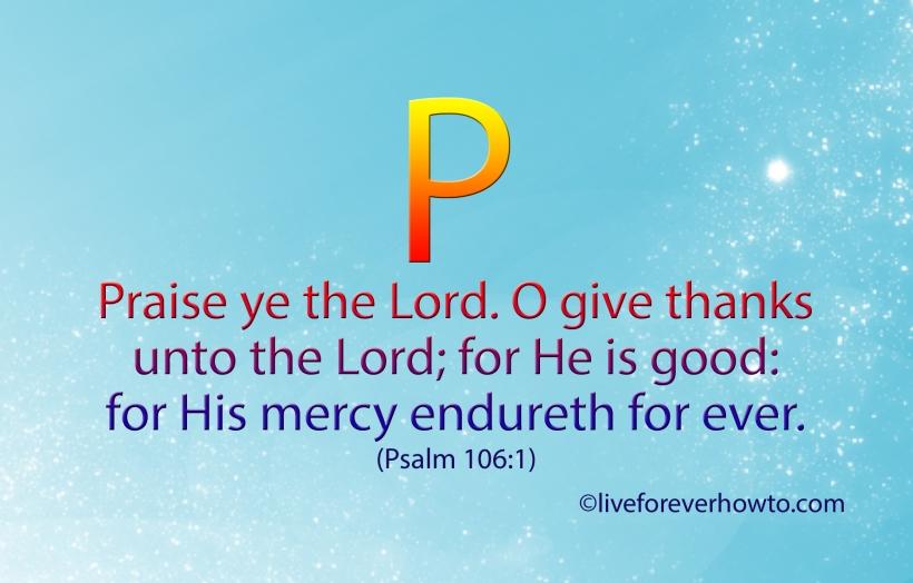 Psalm 106:11 Free Scripture Card - P -