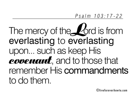 mercy of the Lord is from everlasting to everlasting