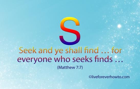 Seek and ye shall find