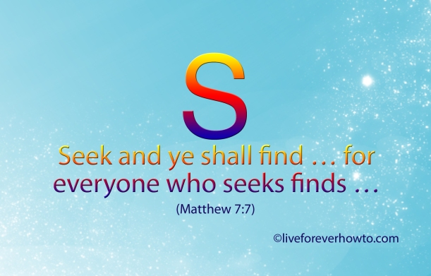 Seek and ye shall find