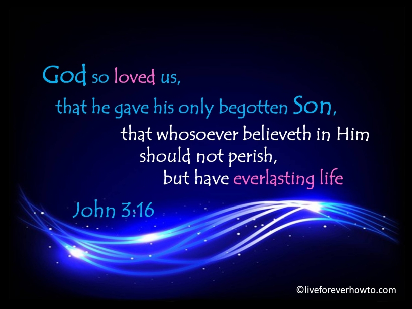 John 3:16 God so loved the world