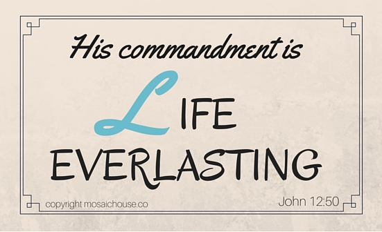 HIS COMMANDMENT IS LIFE EVERLASTING