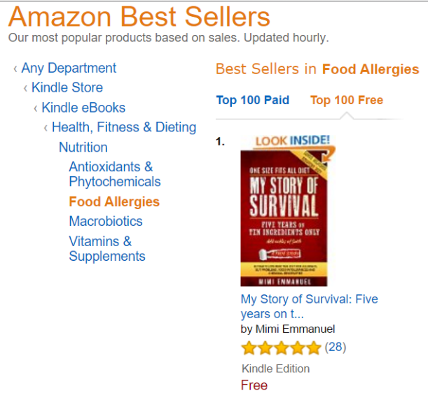 AA AMAZON BESTSELLER FOOD ALLERGIES FREE 16122015