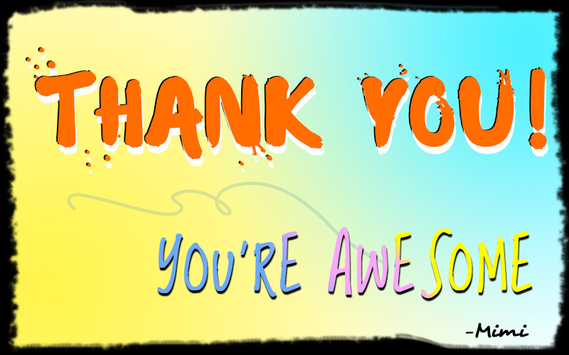 Thank you awesome
