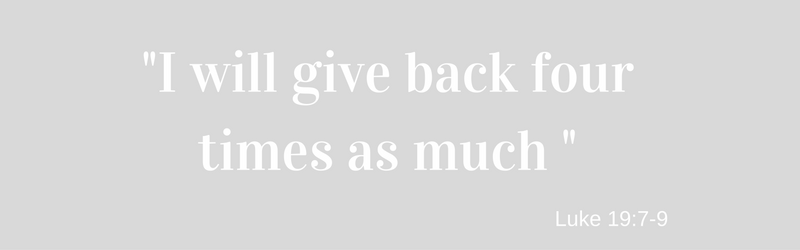 I WILL GIVE BACK