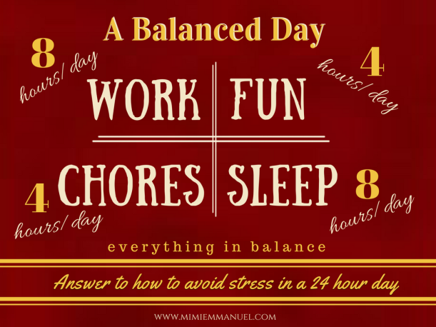 How to divide up your day in a balanced way?