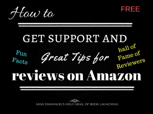 Great tips for reviews on Amazon from Mimi
