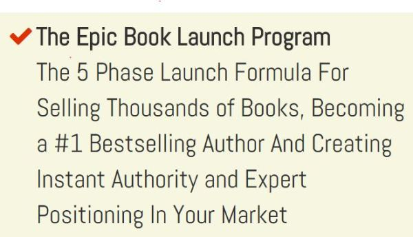 EPIC BOOK LAUNCH PROGRAM https://goo.gl/Ty8T1h