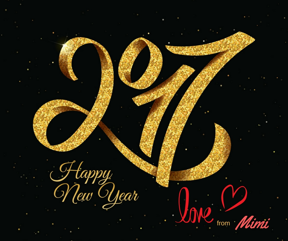 Wishing all my readers a Happy New Year with Love from Mimi