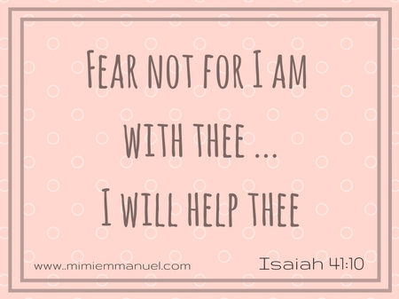 I will help thee Isaiah 41:10