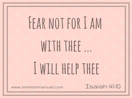 I will help thee Isaiah 41:10