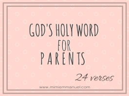 24 Scripture Verses for Parents