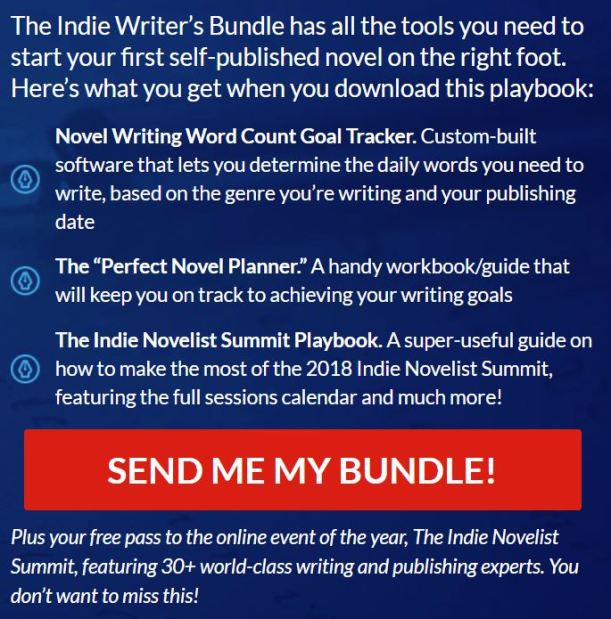 FREE Indie Writer's Bundle and FREE access to Incie Novelist Summit at https://mimi--authorstech.thrivecart.com/premium-pass-regular/5ba65f88cac59/