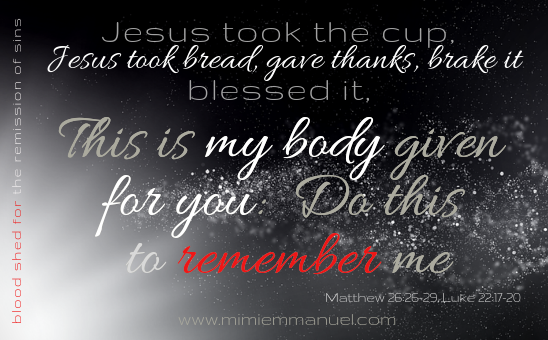 What is Christmas all about? And he took the bread... do this to remember me